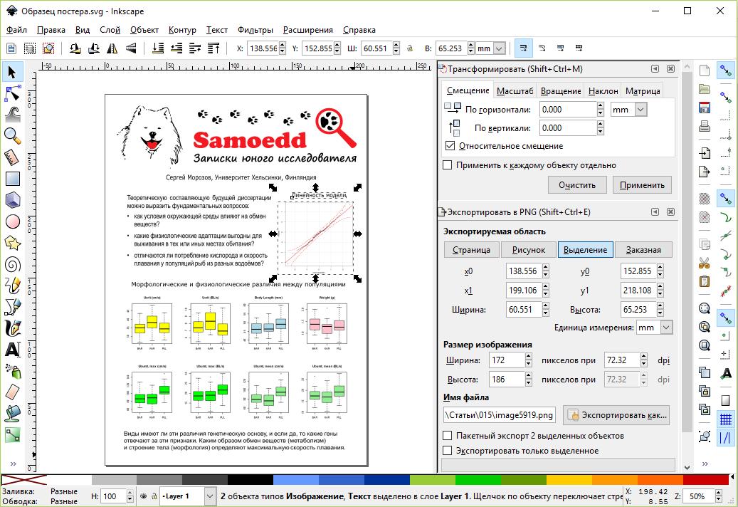 Inkscape постер и графики